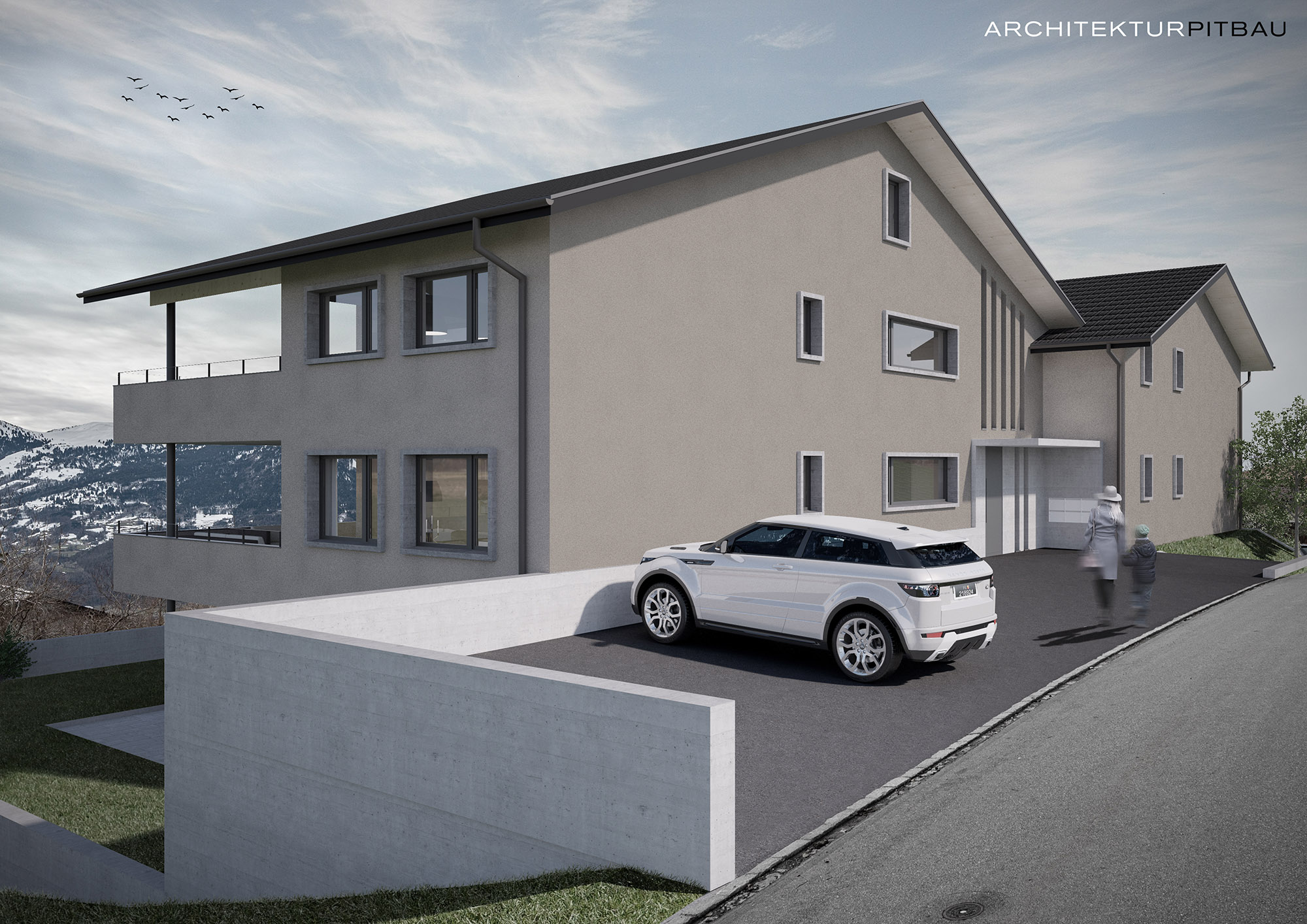 MFH Neubau Gschind, Triesenberg, Liechtenstein
